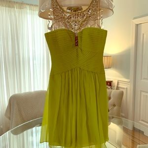 BCBG MAC Azria Gemstone Silk Cocktail Dress Size 4